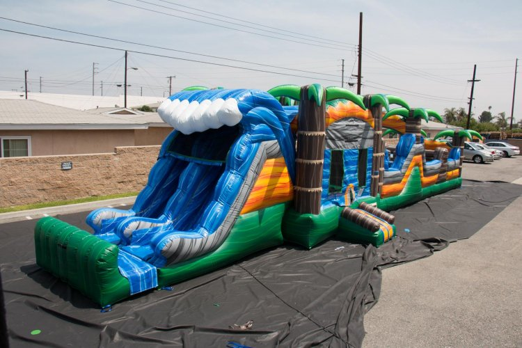 65ft Monsoon Madness Dry Obstacle Course