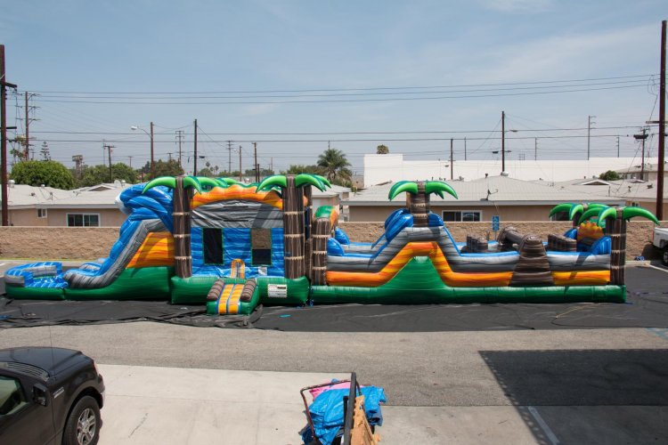 65ft Monsoon Madness Wet Obstacle Course
