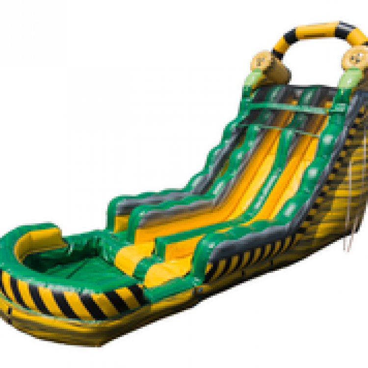 18ft Dual Lane BioHazard Water Slide