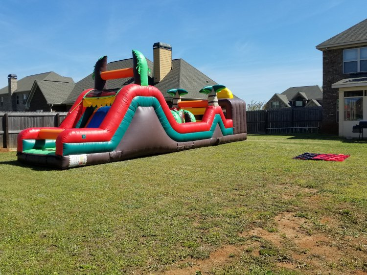 40ft Tropical Obstacle Course Dry