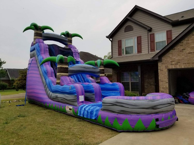 18ft Purple Crush Water Slide